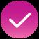 Deep Pink Check Icon
