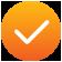 Tangerine Gradient Checkmark Icon